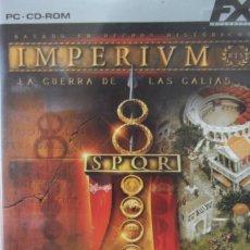 Juegos Antiguos: @ IMPERIVM @ LA GUERRA DE LAS GALIAS @ ROMA @ PC- CD- ROM @. Lote 176645473