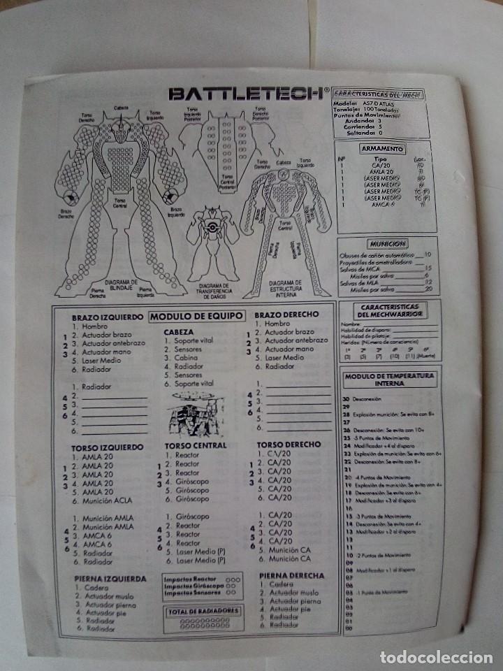 Juegos Antiguos: EXPANSION BATTLETECH REFUERZOS-VER FOTOS - Foto 23 - 177320977