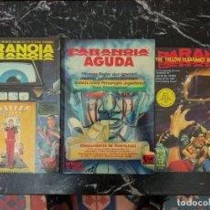 Juegos Antiguos: LOTE 3 LIBROS PARANOIA - PARANOIA AGUDA - THE YELLOW CLEARANCE BLACK BOX BLUES. Lote 178448712