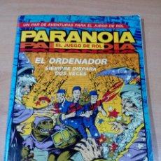 Juegos Antiguos: PARANOIA - JUEGO DE ROL - EL ORDENADOR - SIN PINTAR - LEER ESTADO . Lote 178816841