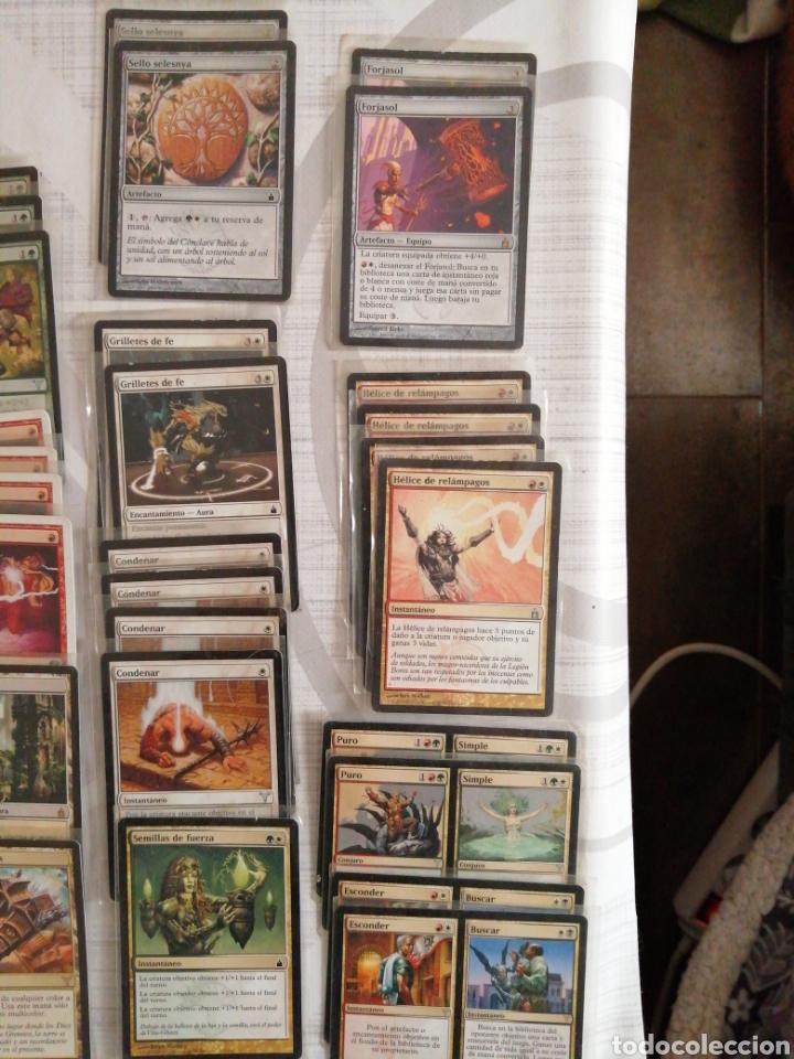 Juegos Antiguos: Deck Magik rojo-verde, enfundadas. 60 cartas - Foto 2 - 181477287