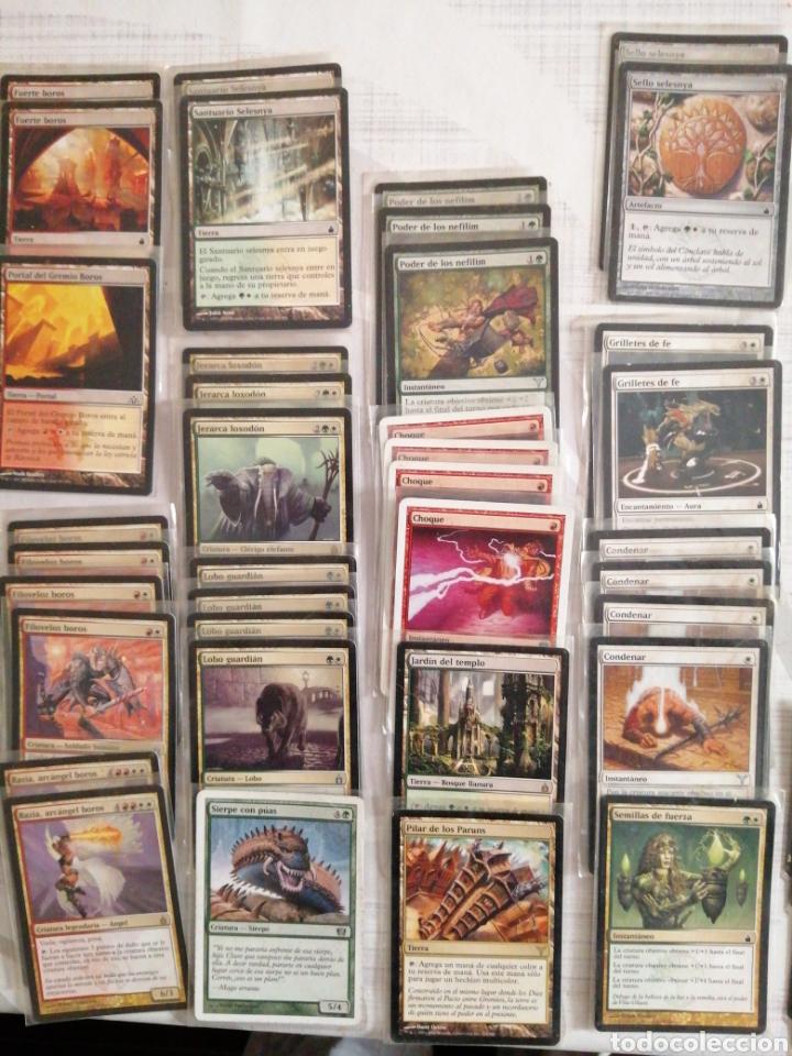 Juegos Antiguos: Deck Magik rojo-verde, enfundadas. 60 cartas - Foto 3 - 181477287
