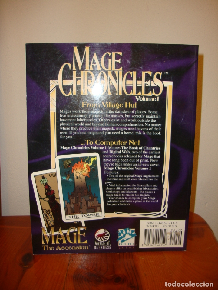 Juegos Antiguos: MAGE CHRONICLES. VOLUME I - A SETTING AND CHRONICLE SUPPLEMENT FOR MAGE: THE ASCENSION - Foto 3 - 182317888