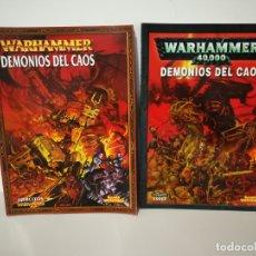 Juegos Antiguos: WARHAMMER DEMONIOS DEL CAOS LIBRO DE EJÉRCITOS Y CODEX. Lote 182981215