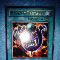 Juegos Antiguos: YU-GI-OH! MASK OF BRUTALITY LON-020 RARA. Lote 183471118