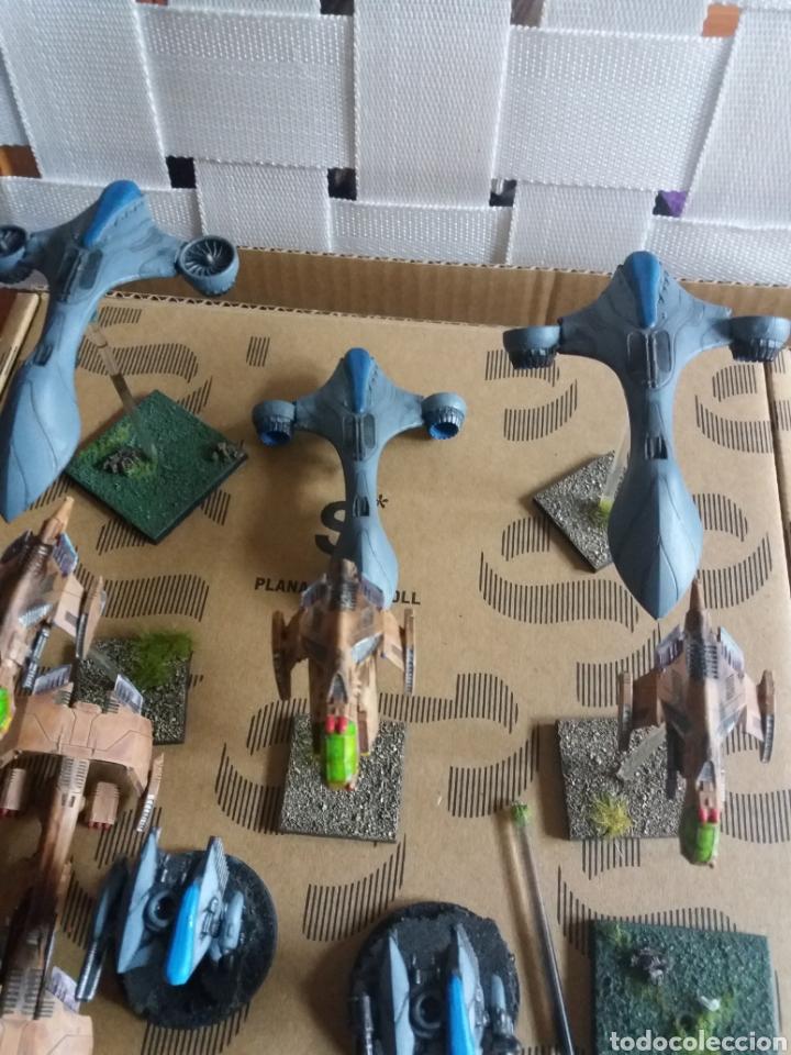 Juegos Antiguos: Lote figuras naves juego roll de plástico - Foto 2 - 183569848