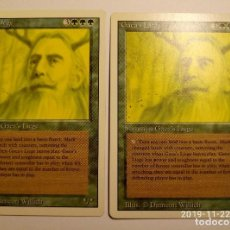 Juegos Antiguos: MAGIC THE GATHERING SIERVO DE GAIA X2 REVISED GAEA'S LIEGE. Lote 184063148