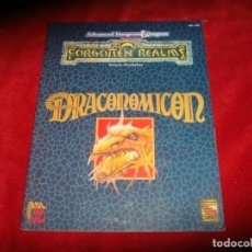 Juegos Antiguos: DRACONOMICON ADVANCED DUNGEONS & DRAGONS FORGOTTEN REALMS REINOS OLVIDADOS ZINCO 1994. Lote 184660140