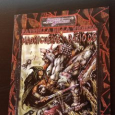 Juegos Antiguos: LAS MADRIGUERAS DE LOS RÁTIDOS. D20. SWORD SORCERY. AD&D 3.0. NUEVO. JUEGO DE ROL. LA FACTORÍA. Lote 185711137