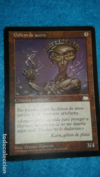 MAGIC THE GATHERING - MTG - GÓLEM DE ACERO (Juguetes - Rol y Estrategia - Otros)