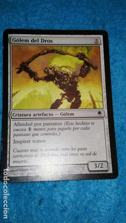 MAGIC THE GATHERING - MTG - GÓLEM DEL DROS (Juguetes - Rol y Estrategia - Otros)