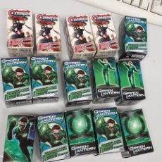 Juegos Antiguos: HEROCLIX CAPTAIN AMERICA Y GREEN LANTERN ¡ LOTE 15 BOOSTER PACK ! MARVEL DC. Lote 186420210