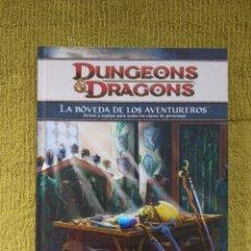 Juegos Antiguos: DUNGEONS & DRAGONS 4.0 LA BOVEDA DE LOS AVENTUREROS (DEVIR DD41006) - TAPA DURA. Lote 188584111