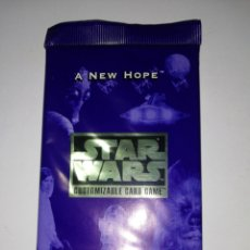 Jeux Anciens: LOTE 15 SOBRES ROL CARD STAR WARS CUSTOMIZABLE CARD GAME.. A NEW HOPE. Lote 188746705