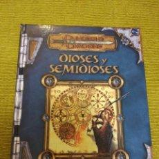 Juegos Antiguos: DUNGEONS & DRAGONS DIOSES Y SEMIDIOSES (DEVIR DD1016) - TAPA DURA. Lote 189511818