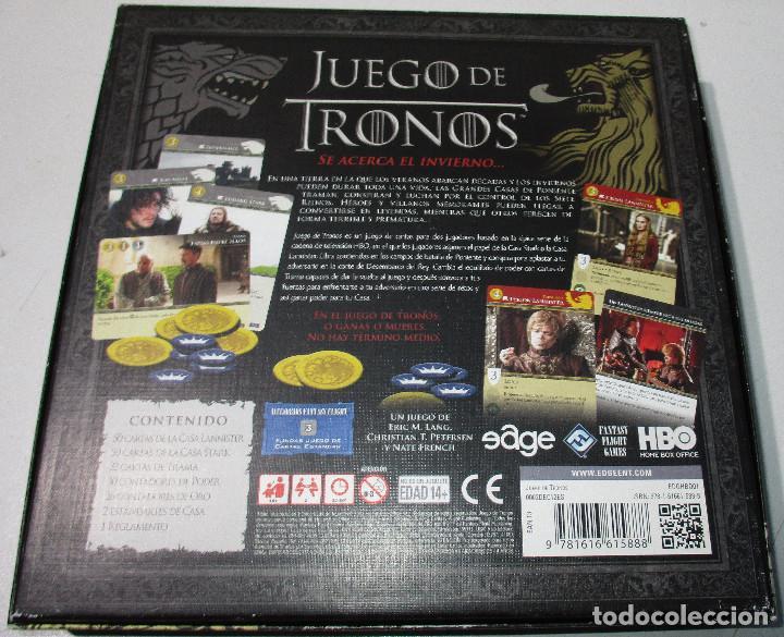 Juegos Antiguos: Juego de mesa, rol, cartas, JUEGO DE TRONOS de EDGE - Foto 4 - 189593941