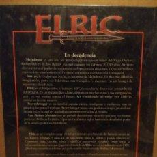 Juegos Antiguos: LIBRO ELRIC - JUEGO DE ROL DE FANTASIA OSCURA . Lote 192289481