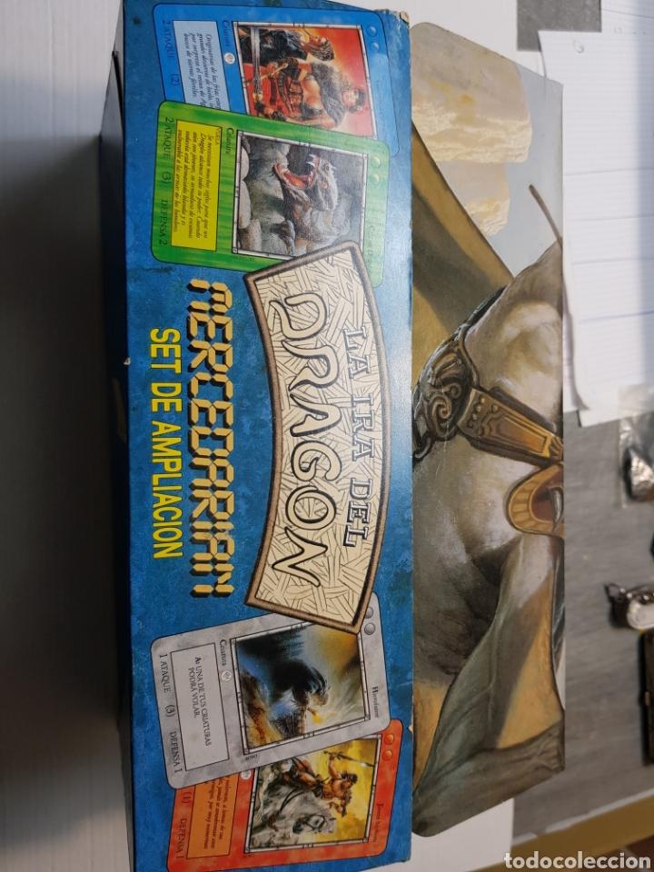 Juegos Antiguos: Lote La Ira del Dragón Completo 4 barajas precintadas,sobres y el difícil expositor - Foto 7 - 172109255
