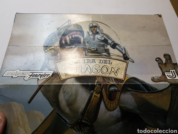 Juegos Antiguos: Lote La Ira del Dragón Completo 4 barajas precintadas,sobres y el difícil expositor - Foto 8 - 172109255