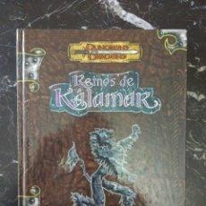 Juegos Antiguos: DUNGEONS & DRAGONS REINOS DE KALAMAR ENTORNO DE CAMPAÑA (LA FACTORIA DE IDEAS LFKA001) - TAPA DURA. Lote 193314490