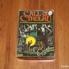 Juegos Antiguos: CAJA ORIGINAL CALL OF CTHULHU 2A EDICIÓN 1983 JUEGO ROL CHAOSIUM JOC LLAMADA . Lote 194170441