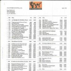 Juegos Antiguos: CATALOGO JOC INTERNACIONAL. Lote 194195891