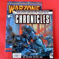Juegos Antiguos: CHRONICLES - Nº1. REVISTA DE WARZONE Y CHRONOPIA + PÓSTER 1996-JUEGO DE MINIATURAS - NUEVO. Lote 194206270