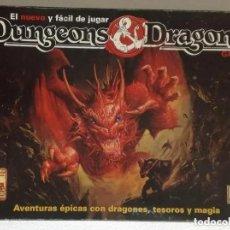 Jogos Antigos: JUEGO DE ROL: DUNGEONS & DRAGONS - BORRAS, TSR 1991 1992; JUEGO COMPLETO, CAJA NEGRA (EN CASTELLANO). Lote 194254280