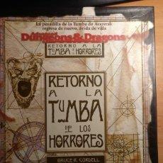 Juegos Antiguos: RETORNO A LA TUMBA DE LOS HORRORES GREYHAWK ZINCO ADVANCED DUNGEONS & DRAGONS ROL. Lote 194296090