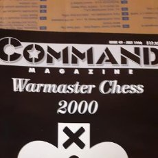 Juegos Antiguos: COMMAND MAGAZINE. WARMASTER CHESS 2000. Lote 194300856