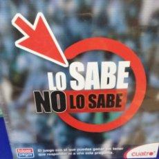 Juegos Antiguos: JUEGO LO SABE NO LO SABE. Lote 194373032