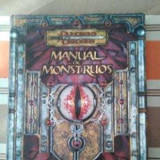Juegos Antiguos: MANUAL DE MONSTRUOS 3.5 - ROL - DUNGEONS AND DRAGONS. Lote 194505016