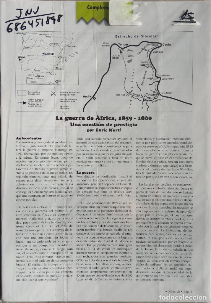 JUEGO COMPLETO DE LA REVISTA ALEA LA GUERRA DE AFRICA (Juguetes - Rol y Estrategia - Otros)