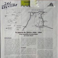 Juegos Antiguos: JUEGO COMPLETO DE LA REVISTA ALEA LA GUERRA DE AFRICA. Lote 194612903