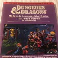 Juegos Antiguos: DUNGEONS & AND DRAGONS D&D LA CIUDAD PERDIDA JUEGO DE ROL DALMAU CARLES, PLA. Lote 194913232