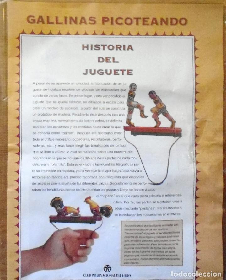 Juegos Antiguos: GALLINAS DE HOJALATA CON SU FASCICULADO DE LA COLECCION TIN TOYS JUGUETES DE HOJALATA - Foto 2 - 194964521