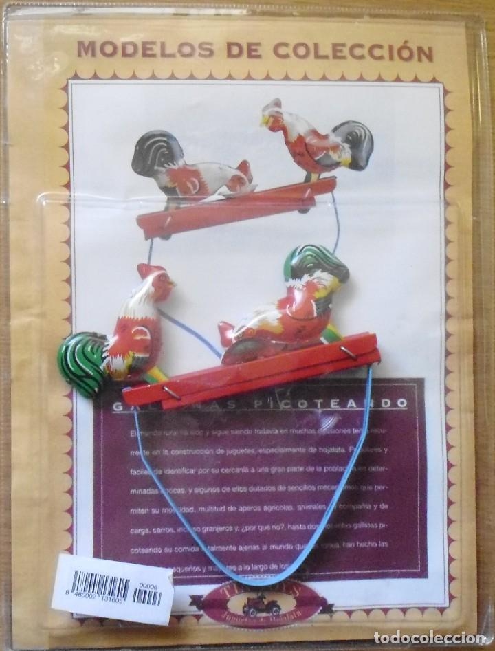 Juegos Antiguos: GALLINAS DE HOJALATA CON SU FASCICULADO DE LA COLECCION TIN TOYS JUGUETES DE HOJALATA - Foto 5 - 194964521