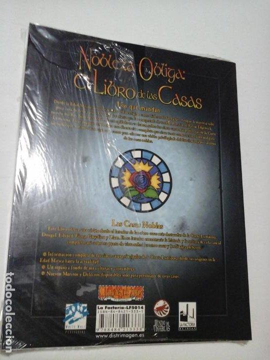 Juegos Antiguos: NOBLEZA OBLIGA EL LIBRO DE LAS CASAS SUPLEMENTO DE ROL PARA CHANGELING DE LA FACTORIA DE IDEAS NUEVO - Foto 3 - 195179120