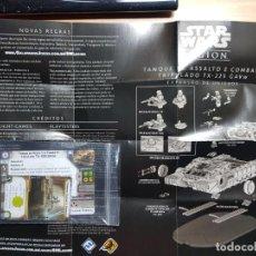 Juegos Antiguos: STAR WARS LEGION. TANQUE ASALTO TX-225 CARTAS DE EXPANSION DE UNIDAD EN PORTUGUÉS. Lote 195298545