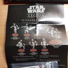 Juegos Antiguos: STAR WARS LEGION. VETERANOS REBELDES CARTAS DE EXPANSION DE UNIDAD EN PORTUGUÉS. Lote 195298617