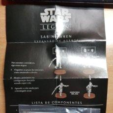 Juegos Antiguos: STAR WARS LEGION. SABINE WREN CARTAS DE EXPANSION DE AGENTE EN PORTUGUÉS. Lote 195298842