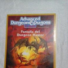 Juegos Antiguos: PANTALLA DEL DUNGEON MASTER DE ADVANCE DUNGEONS & DRAGONS DE EDITORIAL ZINCO. Lote 195298881