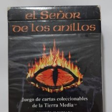 Jogos Antigos: SATM CAJA CARTAS SEÑOR DE LOS ANILLOS TIERRA MEDIA. Lote 195884735