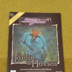 Juegos Antiguos: DUNGEONS & DRAGONS EL JARDIN DE LOS HUESOS (LA FACTORIA DE IDEAS LFDD219). Lote 196012565