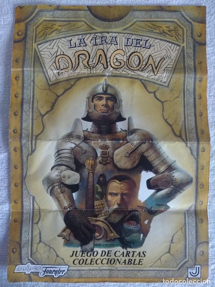 LA IRA DEL DRAGON/JUEGO DE CARTAS COLECCIONABLE DE 242 CARTAS FOURNIER/COMPLETA A FALTA DE 1 CARTA. (Juguetes - Rol y Estrategia - Juegos de Rol)