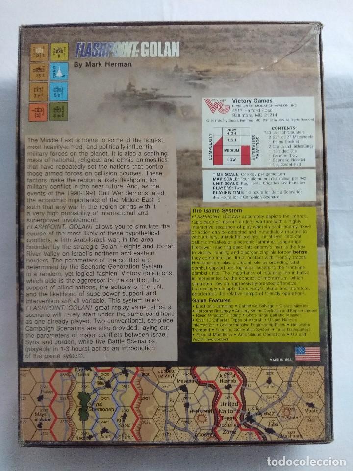 Juegos Antiguos: JUEGO DE ESTRATEGIA FLASHPOINT:GOLAN/THE FIFTH ARAB-ISRAELI WAR/VICTORY GAMES/SIN DESTROQUELAR. - Foto 9 - 198504275