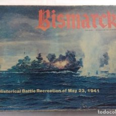 Juegos Antiguos: JUEGO DE ESTRATEGIA/BISMARCK/HISTORICAL BATTLE RECREATION OF MAY 23-1941/AVALON HILL/INCOMPLETO.. Lote 198505847
