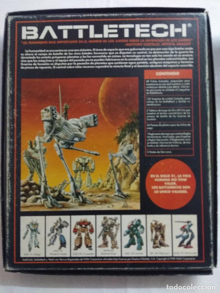 Juegos Antiguos: JUEGO DE ESTRATEGIA/BATTLETECH/JUEGO DE GUERRA MECANIZADA/FASA-DISEÑOS ORBITALES. - Foto 6 - 198507932