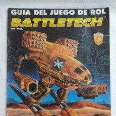 Juegos Antiguos: GUIA DEL JUEGO DE ROL BATTLETECH/JUEGO DE GUERRA MECANIZADA/FASA-DISEÑOS ORBITALES.. Lote 198508197