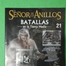 Juegos Antiguos: EL SEÑOR DE LOS ANILLOS - BATALLAS EN LA TIERRA MEDIA - NUMERO 21 - INCLUYE FIGURA GIMLI METAL. Lote 198692973